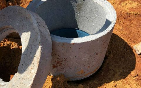 חולית בטון עגולה ומכסה בטון