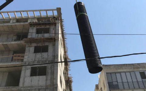 שינוע של צינור HDPE קשיח